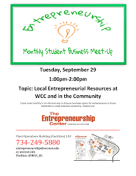 monthly student business meetup topic entrepreneurial resources entrepreneurship center student meet up