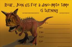 kids birthday party invitations printable st birthday dinasaur birthday invitation a carnotaurus