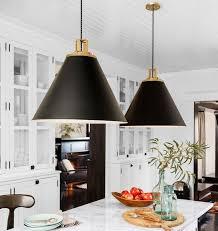 pendant lights decor kitchen hanging black white gold ideas black kitchen lighting