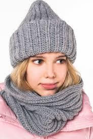 Купить <b>шапка</b> для девочки 90750_OAG цвета серый голубой за ...