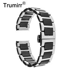 Uhrenarmbänder 22mm <b>Universal</b> Ceramic <b>Strap Bracelet</b> Butterfly ...