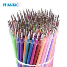 <b>100 pcs</b>/<b>lot</b> 100 Colors <b>Gel Pen Refill</b> Multi Colored Painting Gel <b>Ink</b> ...