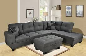 set lifestyle living furniture sofa lifestyle left facing sectional sofa set in gray microfiber amp faux l