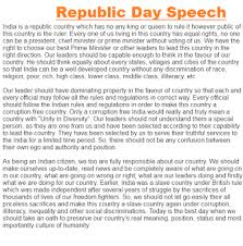 january republic day speech in english for students happy republic day english speech
