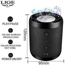 <b>LIGE Bluetooth</b> Speaker <b>Mini</b> Wireless Loudspeaker Crack LED TF ...