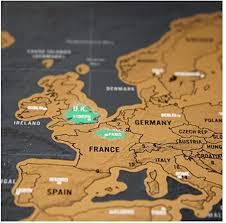 Weyi Ui Deluxe Black Decoration World Map Scratch ... - Amazon.com