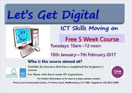 computer courses schedule for winter priory court let s get digital ict moving on