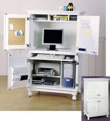 to hide all my office work while im away i bought the ikea armoire office desk