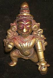 Antique Indian Ritual <b>Bronze</b> God Baby Krishna Crawling Rare #3 ...