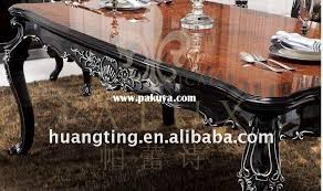 18m long solid wood dining table french style black lacquer wooden dining room furniture black lacquer dining room