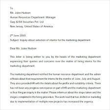 letter of inquiry     free samples   examples   formatinquiry business letter