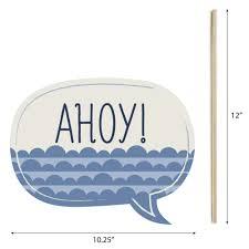 Ahoy - <b>Nautical</b> - Piece <b>Photo Booth</b> Props Kit - 20 Count - Walmart ...