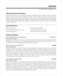 microsoft work resume template     free word  pdf documents    construction work resume template