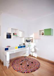 pom pom rug pattern cheerful home office rug