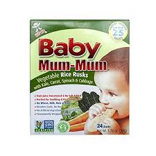 <b>Baby Mum Mum Apple</b> & Pumpkin Rice Rusks 1.76oz - Aone ...
