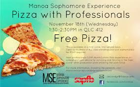 sophomore admin news mānoa sophomore experience attendees enjoyed delicious pizza while hearing professionals share their college experiences and advice for surviving and thriving in the real
