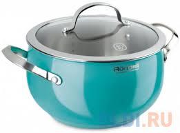<b>Кастрюля</b> с/кр <b>Rondell RDS</b>-<b>719</b> 22 см (5,8 л) Turquoise — купить ...