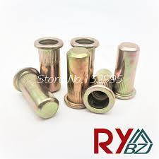 Sealed Carbon steel <b>Flat head rivet nut</b> close end M4 M5 M6 M8 ...