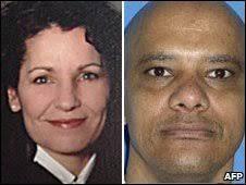 US Judge Sharon Keller and convicted murderer Michael Richard (file images) - _46221296_keller_richard_afp