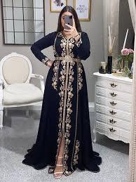 <b>SoDigne</b> Algerian outfits Karakou Formal <b>Dress</b> A-line Long Sleeve ...