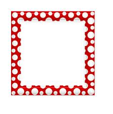 <b>Red and white Polka</b> Dot square Border free image - <b>Pixy</b>.org