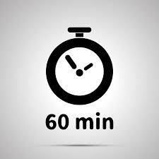 <b>Sixty Minutes</b> Timer <b>Simple Black</b> Icon With Shadow Royalty Free ...