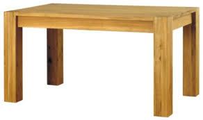 baumhaus aston solid oak dining table seats 4 6 aston solid oak