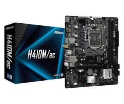 <b>ASROCK H410M</b>/<b>AC</b> LGA1200 2xDDR4 mATX Mainboard | Intel ...