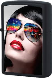 29090 <b>Зажигалка Zippo</b> Reflective <b>Sunglasses</b>, Black Matte