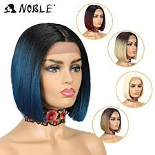 NOBLE Ombre BOB Wig Lace Front Synthetic Wig ... - Amazon.com