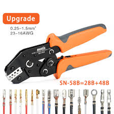 <b>SN 58B</b> with Five kinds of terminals set <b>Multi function Crimping</b> pliers ...