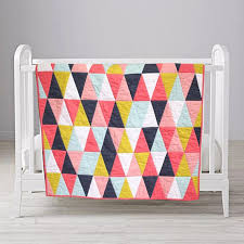 Coral Peach <b>Navy Blue</b> Triangle Quilt <b>Custom Made</b> in Any Colors ...