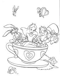 Small Picture Fantasyland Mad Tea Party Alice in Wonderland Coloring Page