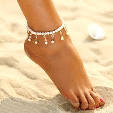 <b>Bohemian Imitation Pearl</b> Anklet | Ankle bracelets, Pearl anklet ...