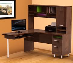 awesome corner office desk remarkable brown wooden office desk ideas at elegant natural room chic office desk hutch
