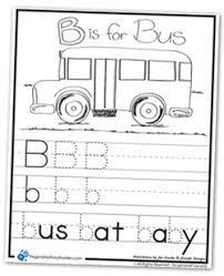 Small Picture B is for Bus coloring page worksheet Wheels on the Bus