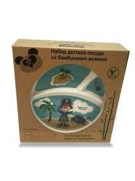 "<b>Набор</b> бамбуковой <b>посуды</b> ""Пираты-Мальчик"" (5 предметов) <b>Eco</b> ..."