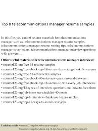top8telecommunicationsmanagerresumesamples 150516094018 lva1 app6892 thumbnail 4 jpg cb 1431769266