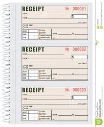 rent receipt book stock vector image  rent receipt book