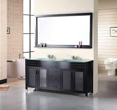bathroom vanity 60 inch: waterfall  inch espresso double sink bathroom vanity set by
