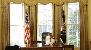 the oval office of george w bushs father president george hw bush likewise was decorated with a light bluish gray color scheme rather than red barak obama oval office golds