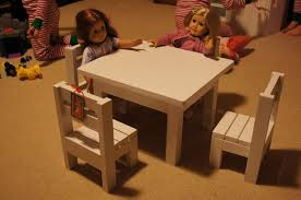 claras table and 4 stackable chairs sized for 18 dolls american furniture patterns
