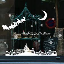 Year <b>Christmas</b> Window <b>Decals</b> Restaurant Shopping Center ...