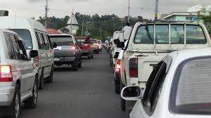 traffic congestion in honiara sibc a typical day for traffic in honiara photo sibc