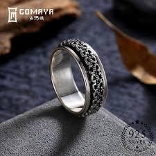 2018 <b>Gomaya</b> 100% <b>Real 925 Sterling</b> Silver Rings Gift For Women ...