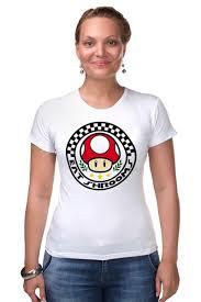 Футболка Стрэйч <b>Гриб</b> из <b>Марио</b> #1358321 – заказать женские ...