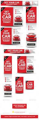 green event web banner design template the ribbon affiliate cheap car insurance web banner ad