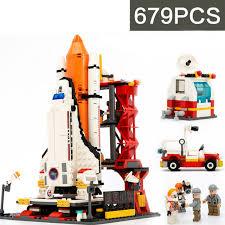 Lego Shuttle Launch Center <b>City Spaceport Space 679 Pcs</b> Bricks ...