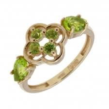 Золотое <b>кольцо</b> с <b>хризолитом</b>. Купить по цене от 5000 ...