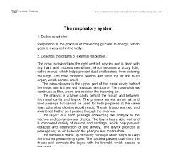 the respiratory system   gcse science   marked by teachers comdocument image preview